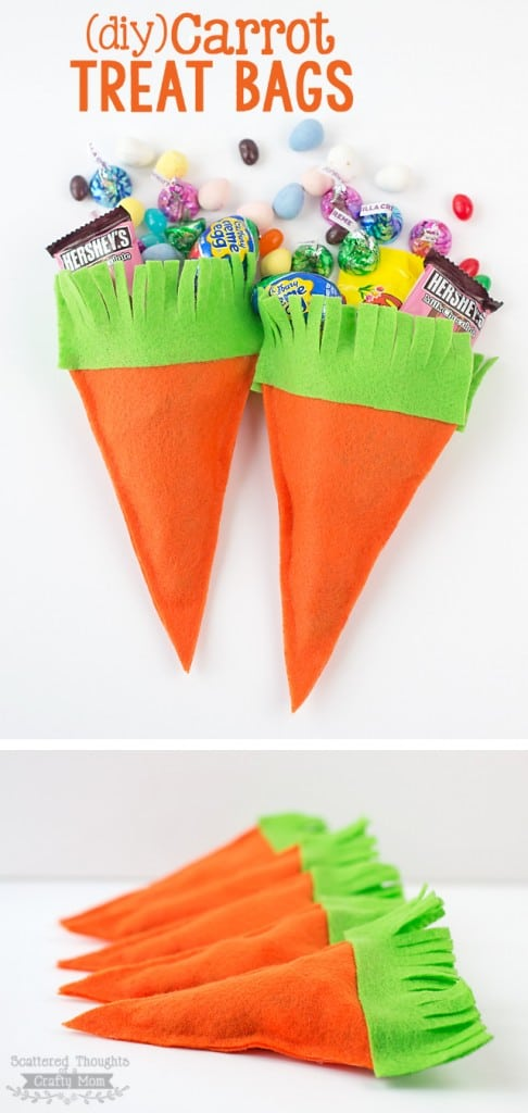 Make these darling DIY Carrot Treat Bags! They are perfect for Spring or Easter.