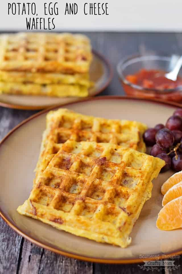 Potato, Egg, and Cheese Waffles | 25 Inventive Waffle Iron Recipes To Make With Your Waffle Maker