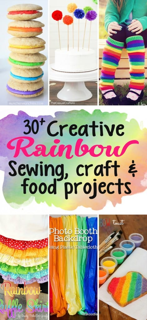 Check out this gorgeous collection of over 30 rainbow inspired crafts, food and sewing projects for inspiration!