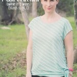 New Free T-shirt Pattern: Ladies Asymmetrical Hem T-Shirt (sizes S, M, L)