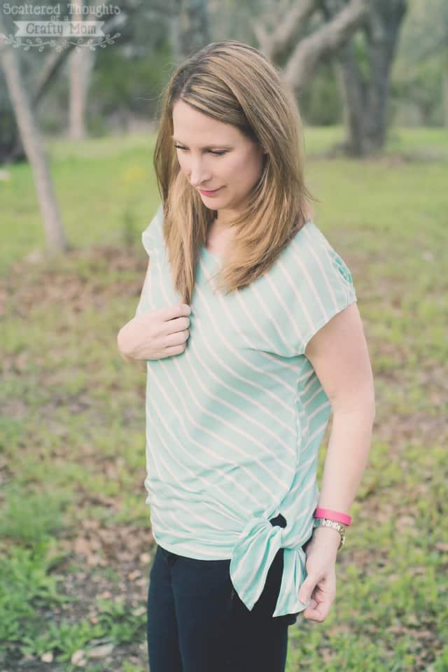 Free Ladies Asymmetrical Hem T-Shirt Pattern