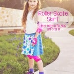 Roller Skate Circle Skirt Pattern for girls (sz 3 to 10)