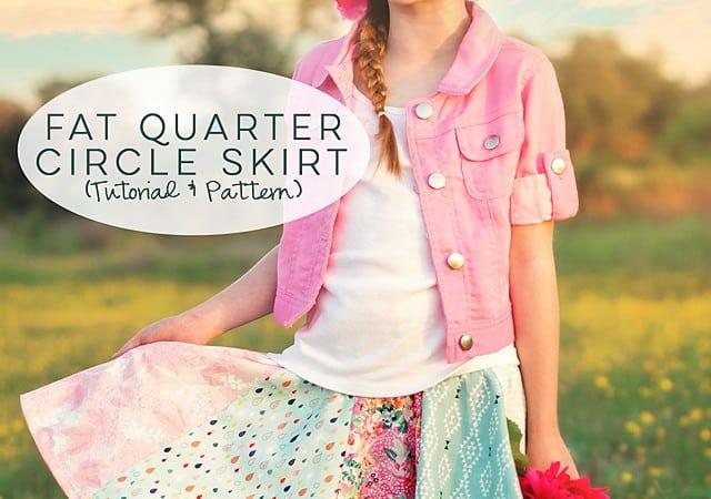 Fat Quarter Circle Skirt (pattern hack)