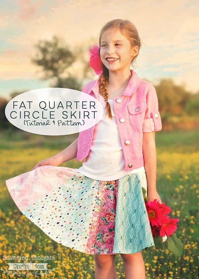 Fat Quarter Circle Skirt (pattern hack)