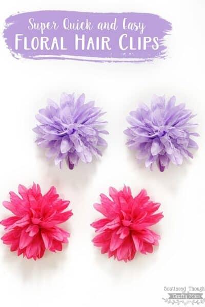Easy Flower Hair Clips