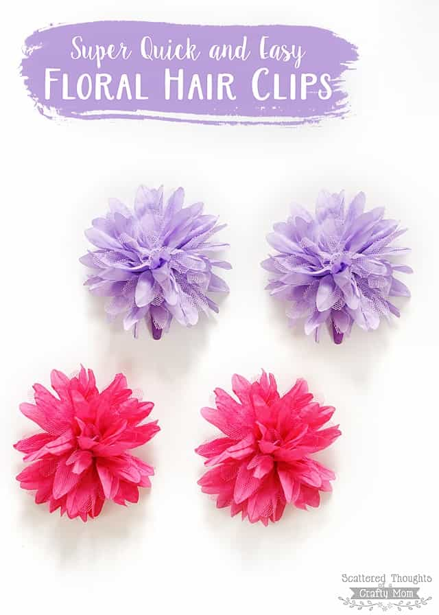 Easy flower hair clips scattered thoughts of a crafty mom by jamie make these super quick and easy flower hair clips mightylinksfo