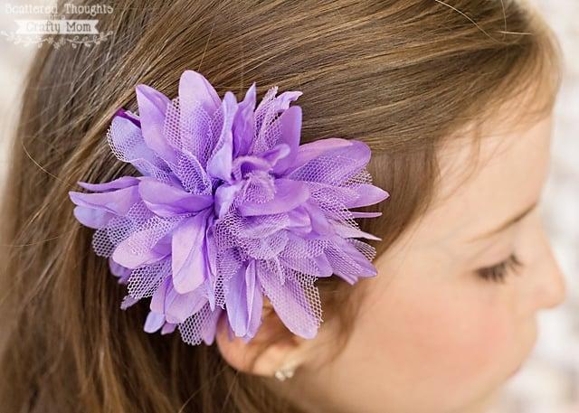 diy flower hair clips