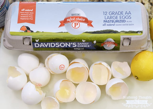 pasteurized in the shell eggs