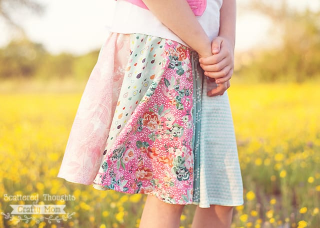 How to sew a circle skirt.