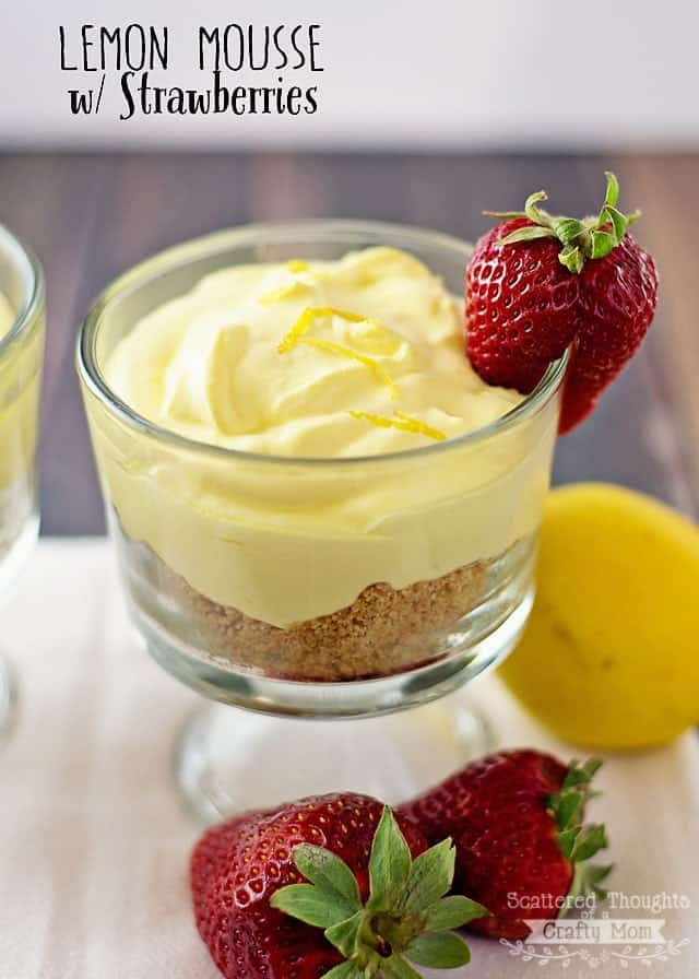 Love lemon? You've got to try this yummy recipe for Lemon Mousse with Strawberries. Makes a perfect light dessert for Spring!