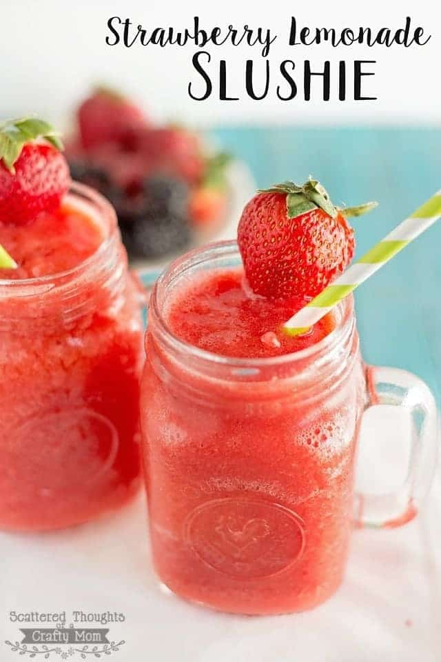 Strawberry Lemonade Slushie Recipe