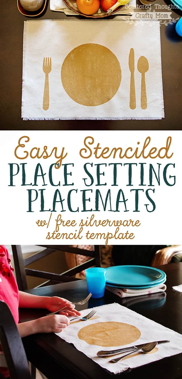 Easy Stenciled Placemats (w/ printable stencil)