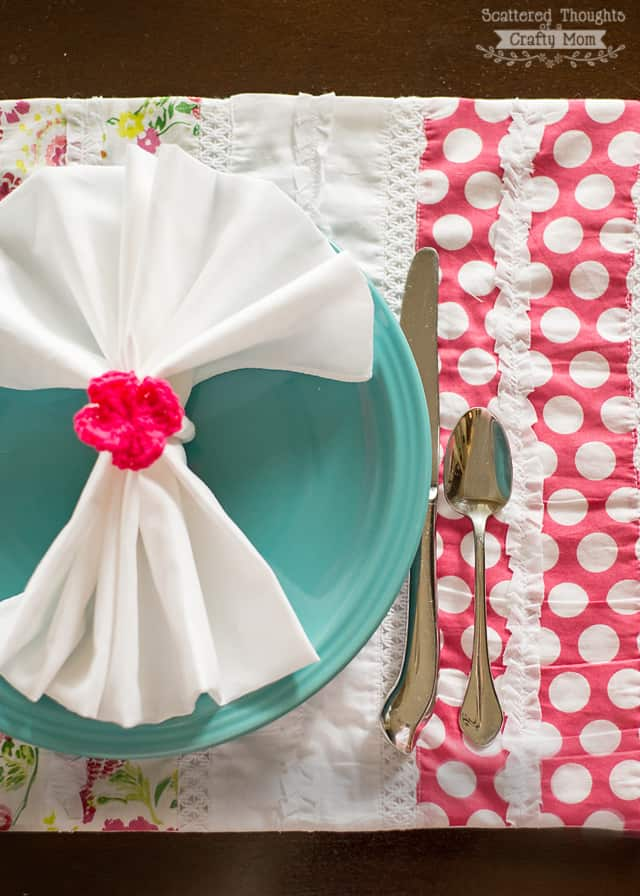 how to sew a placemat