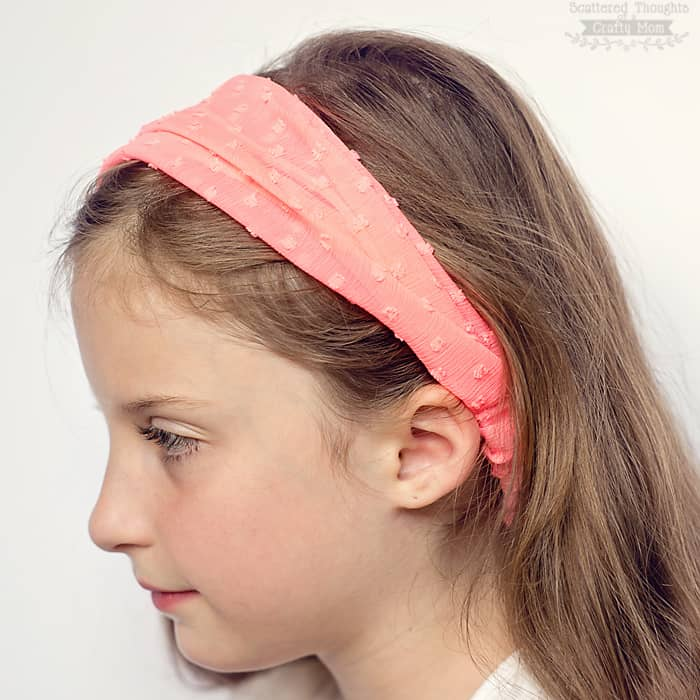 Easy Elastic Headband Tutorial Scattered Thoughts Of A Crafty Mom