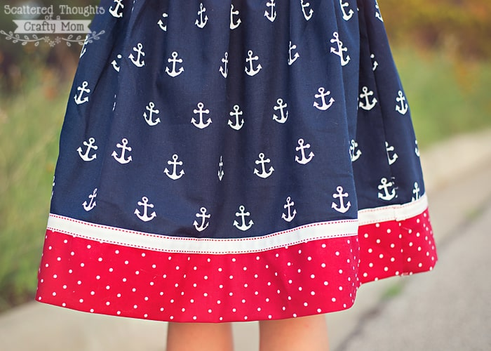Red White and Blue Flat Front Skirt - Scattered Thoughts of a ...