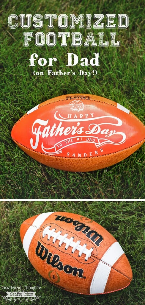 Dad a Football Fan? Give Him a Wilson Customized Football for Father's Day!