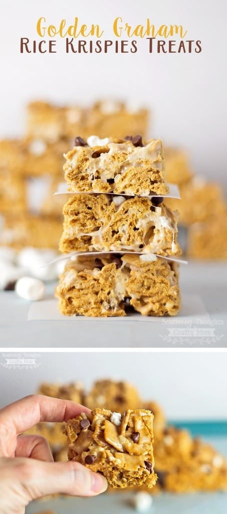 Golden Graham Rice Krispy Treats: as easy to make as regular Rice Krispy Treats, but oh so much tastier!