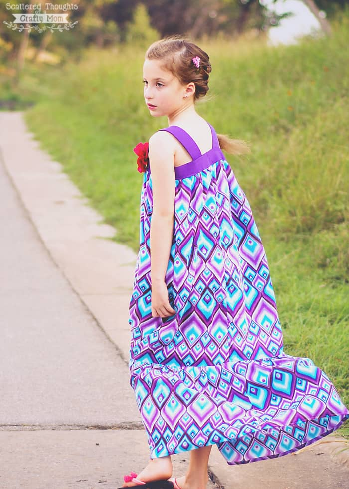 4 rectangle maxi dress pattern long sleeve