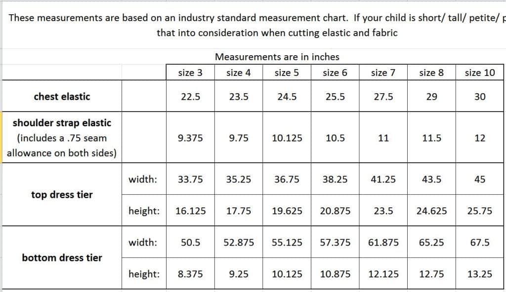 bohemian breeze size chart