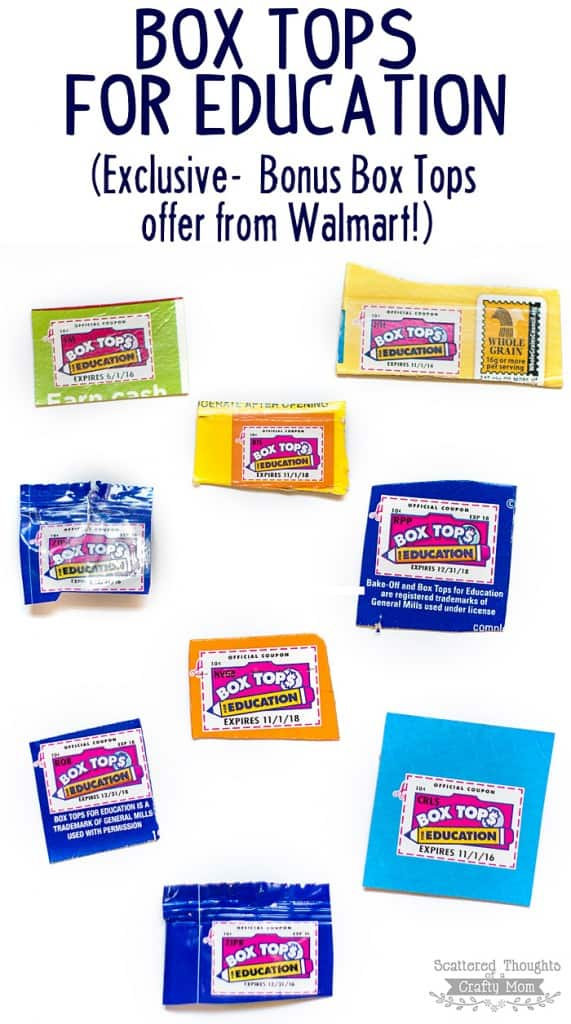 Box Tops for Education: Bonus Box Tops from Walmart!