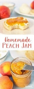 Use your fresh or frozen peaches to make this Easy Homemade Peach Jam. (No Pectin, easy Peach Jam Recipe)