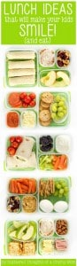 School Lunch ideas that will make your kids smile!