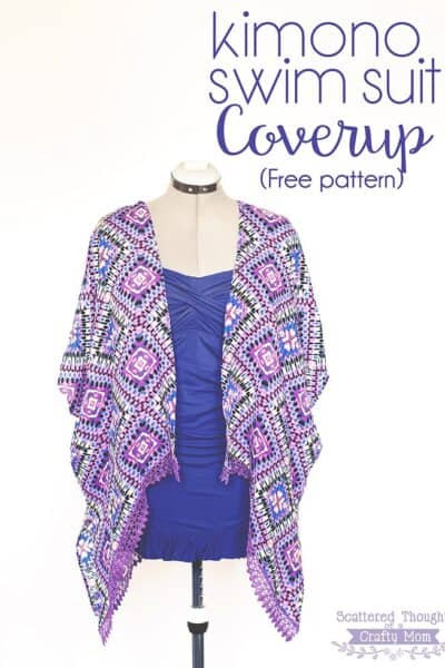 Kimono Swim Suit Cover Up -free pattern