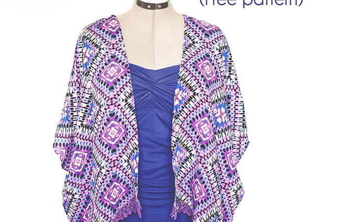 Kimono Swim Suit Cover Up -free pattern