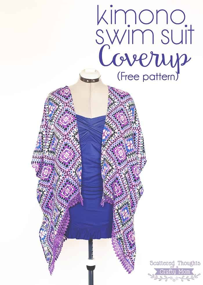 Kimono Swim Suit Cover Up -free pattern - Scattered