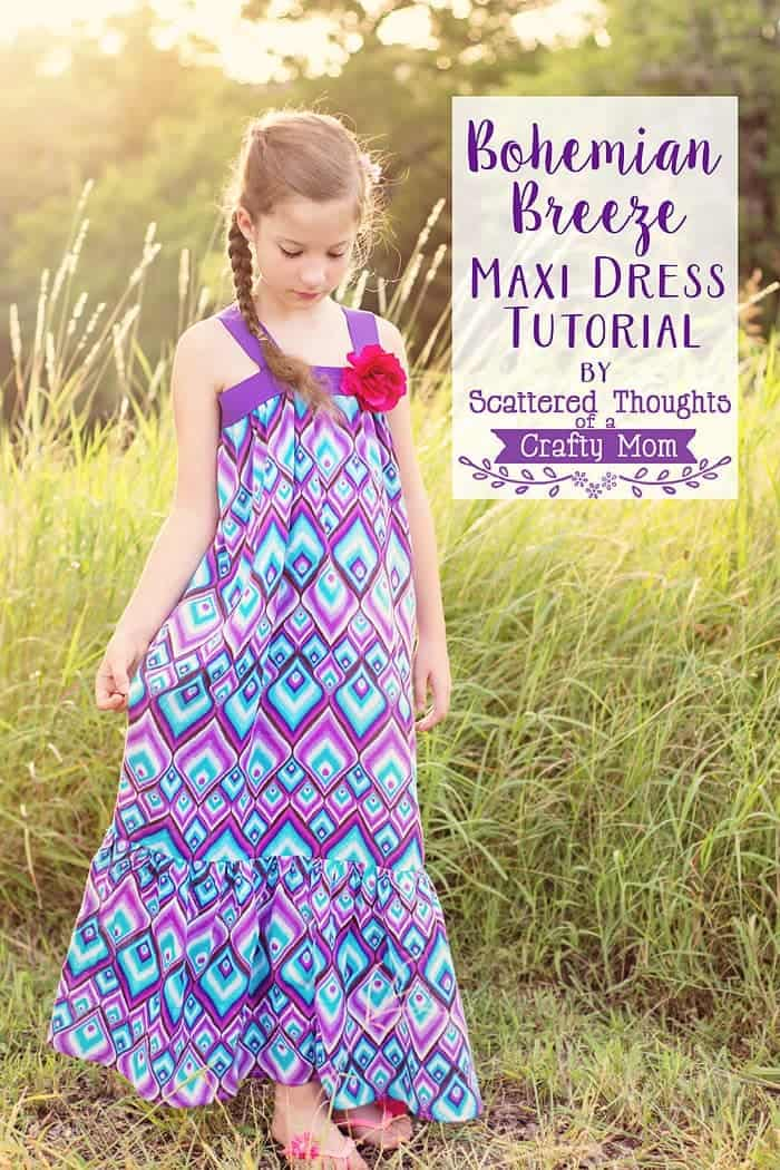 Bohemian Breeze Maxi Dress Tutorial