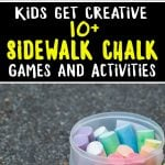 Kick summer boredom to the curb and keep the kids entertained this summer with these 10+ Fun Sidewalk Chalk Ideas!