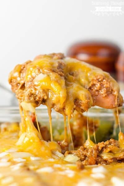 Low Carb Chili Dog Bake