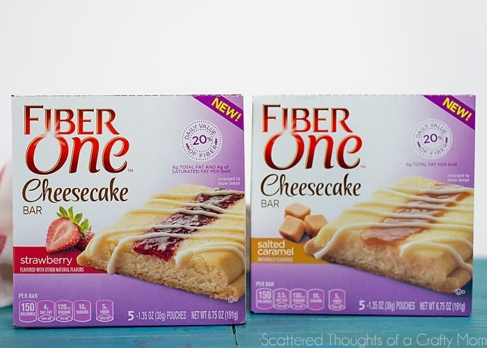 Snack Time with Fiber One Cheesecake Bars!