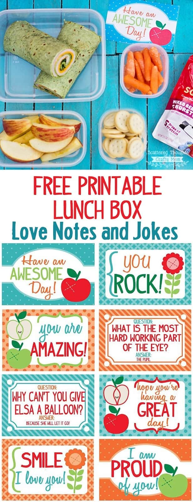 Free Printable Lunch Box Notes for Back To School