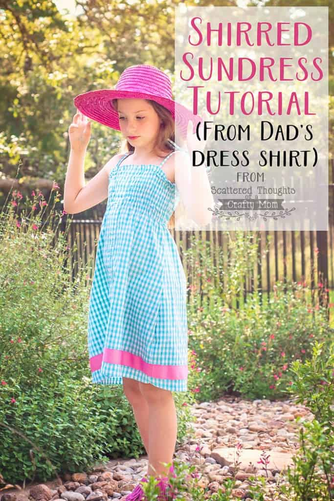 How to upcycle a Man's dress shirt into an adorable sundress!  (Quick and Easy Sewing projects.)