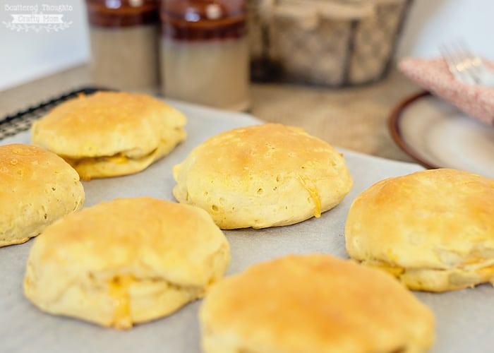 stuffed breakfast biscuits