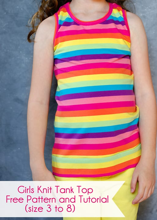 Girls Knit Tank Top Pattern And Tutorial Size 3 To 8 Scattered