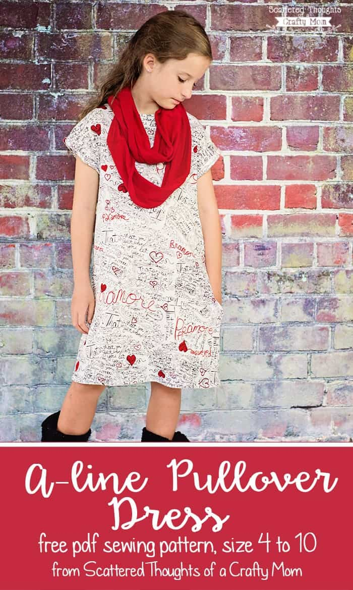 Girl's A-line Pullover Dress, Free Pattern Size (4 To 10