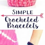 Make an easy crochet bracelet with the magic circle technique