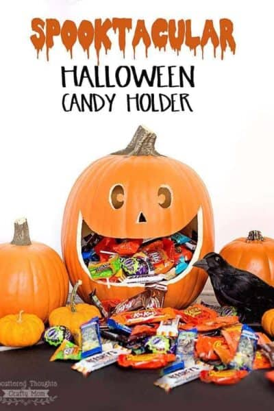 DIY Halloween Pumpkin Candy Holder