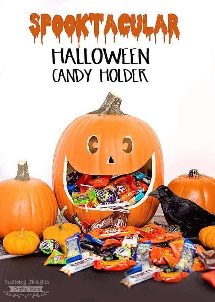 DIY Halloween Pumpkin Candy Holder