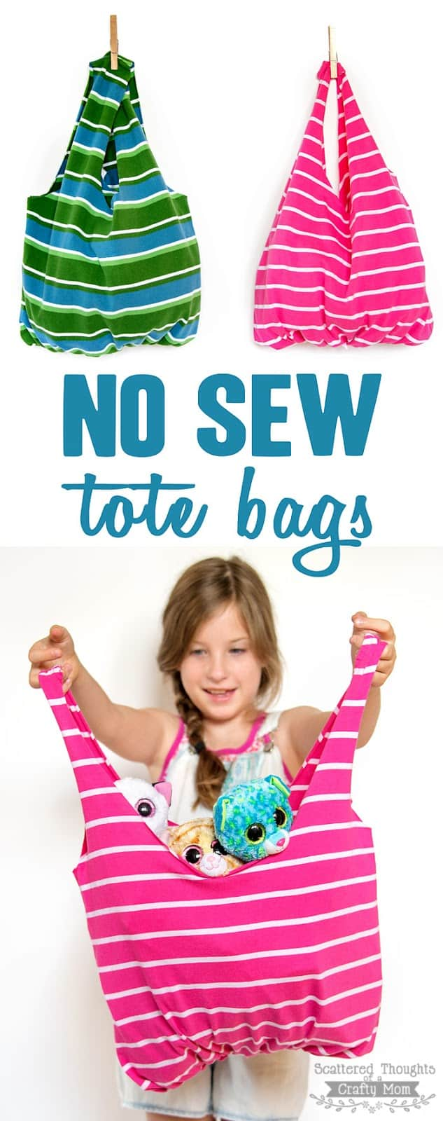 How to make a no sew tote bag.
