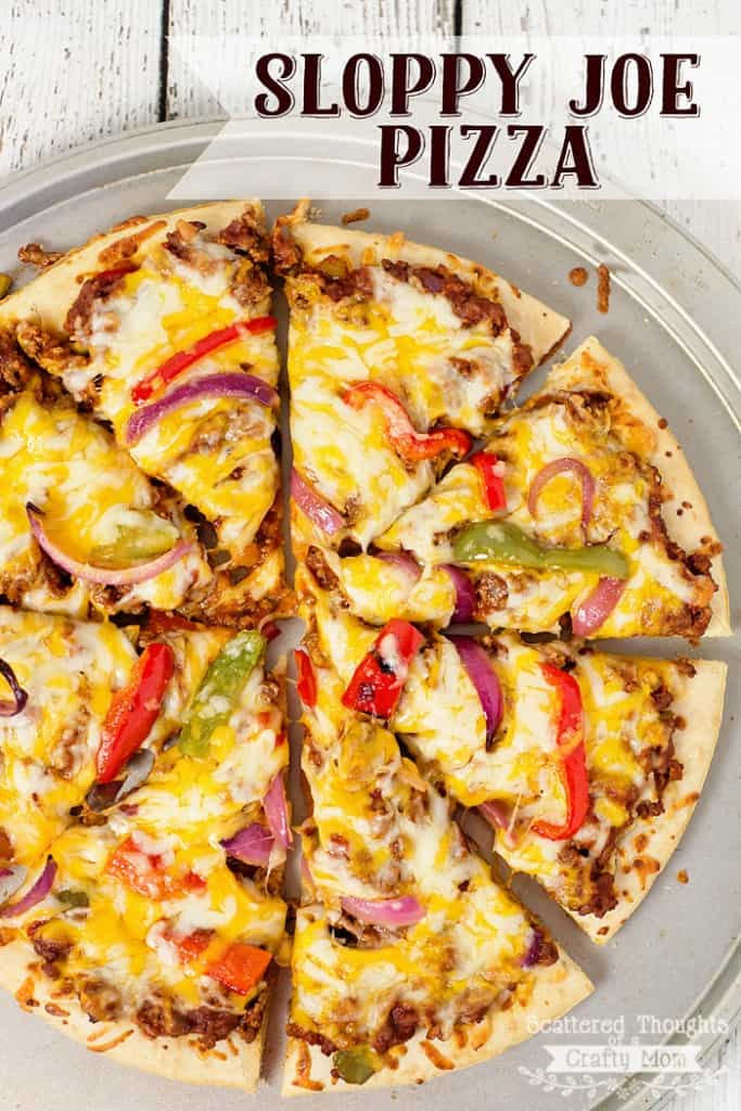 Ready for a new family favorite dinner? This Sloppy Joe Pizza is Amazing!