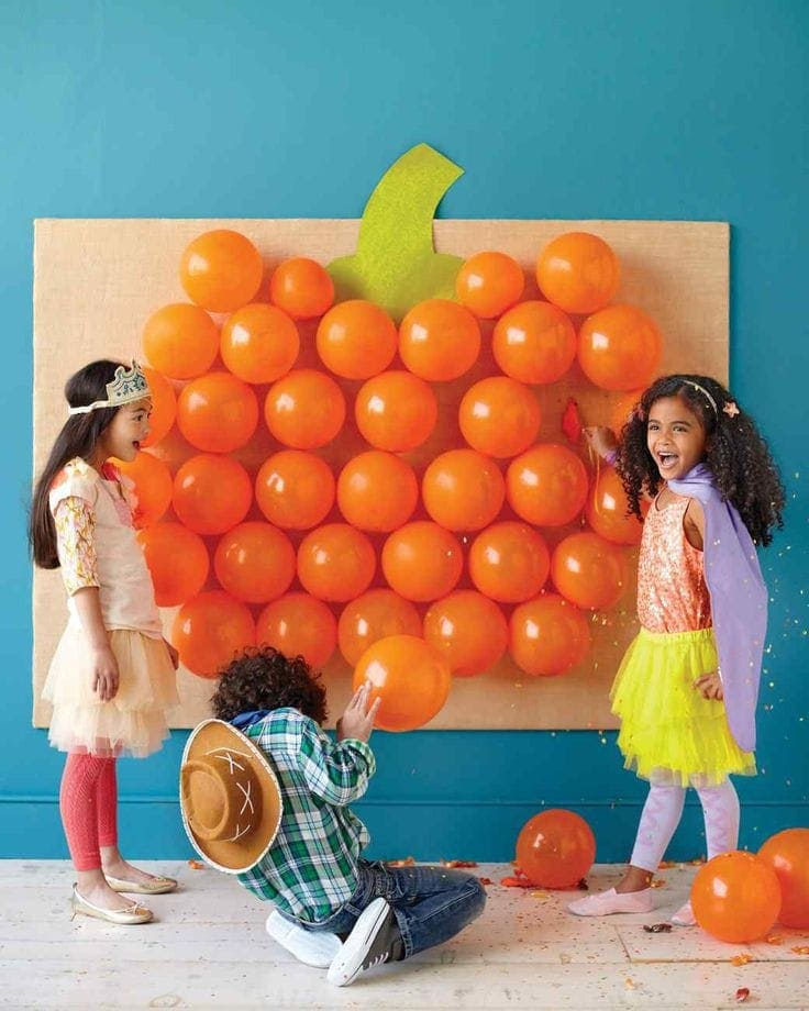 17+ Halloween Party Games for Kids (pop the Balloon)