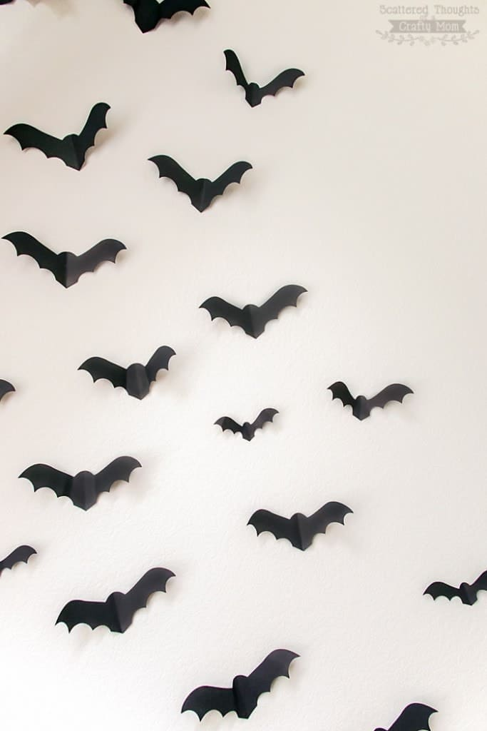 Bats On The Wall Free Paper Bat Template