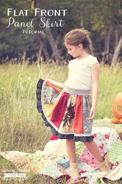 Flat Front Panel Skirt (free pattern sz 2 to 10)