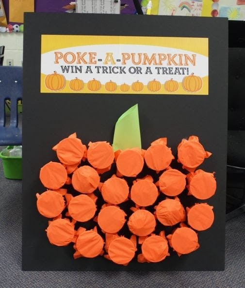 Need ideas for Halloween Games for kids? Time to crank the fun with these 17 Halloween Party Games for Kids. (poke a pumpkin)