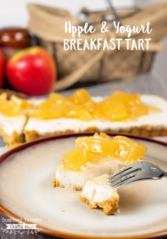 This Apple and Yogurt Tart is so simple to make and is great as a delicious snack, dessert and yes, even breakfast!