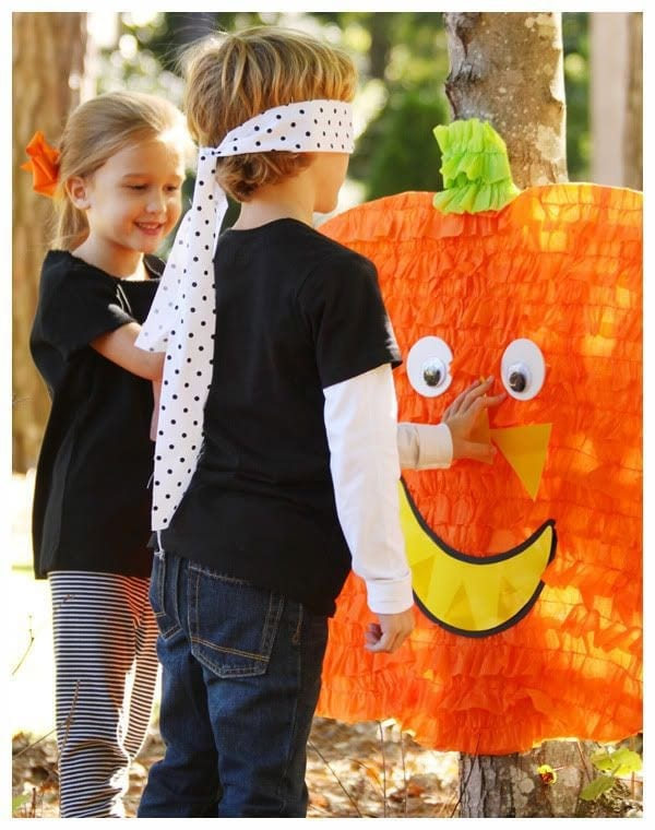 halloween games for kids pin the face on the pumpkin