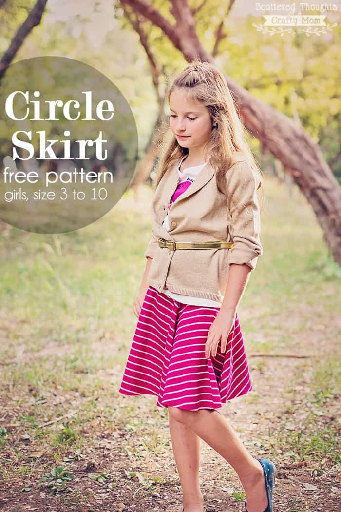 Easy Circle Skirt for Fall